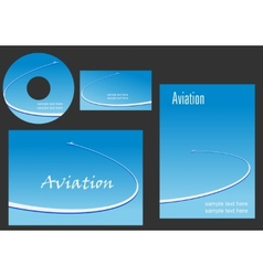 Template elements for Aviation design vector