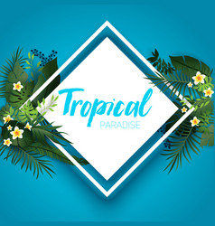 Tropical lagoon card vector