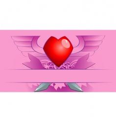 Valentine's poster vector image