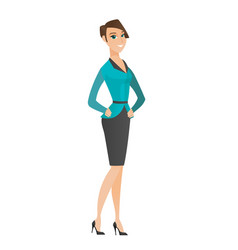 Young caucasian confident business woman vector