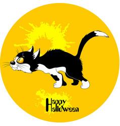 Black cat halloween vector
