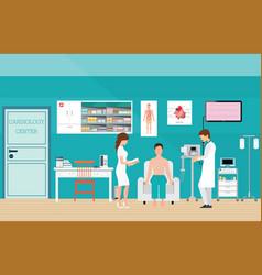 ecg test or the cardiac test vector image