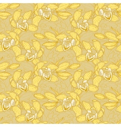 Seamless pattern with orchid vector image vector image