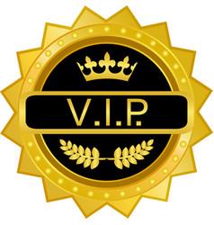 vip gold badge vector image