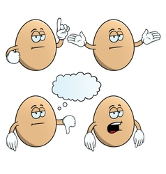 Bored egg set vector image vector image