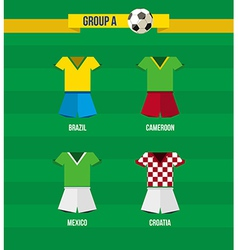Brazil Soccer Championship 2014 Group A team vector image vector image