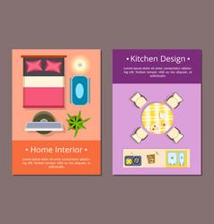 home interior kitchen design vector image