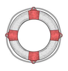 lifebuoy hand drawn sketch vector image vector image