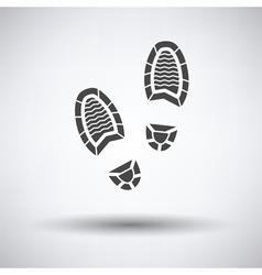 Man footprint icon vector image