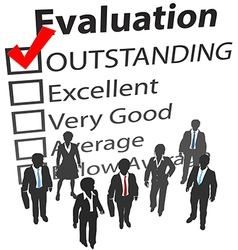 Business team best human resources evaluation vector image
