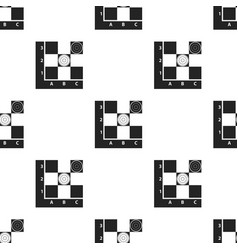 Checkers icon in black style isolated on white vector