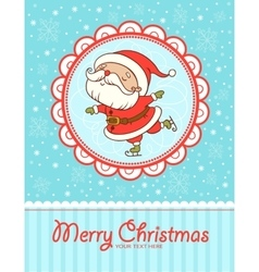 Funny and cute Christmas card vector image