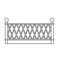 metal building fence icon vector image