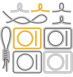rope frames four styles vector image