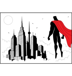 Superhero Watch 4 vector image