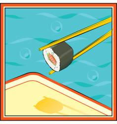 sushi-roll vector image