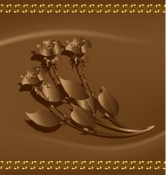 chocolate roses vector image vector image