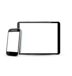 Computer Screen Tablet PC and Mobile Phone vector image vector image