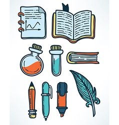 education objects vector image