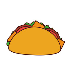 fast food taco mexican menu restaurant vector image