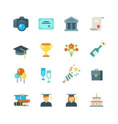 graduate student party college graduation vector image