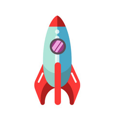 kid toy children plaything rocket spaceship vector image vector image