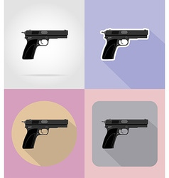 weapon flat icons 15 vector image