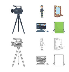 A movie camera a suit for special effects and vector