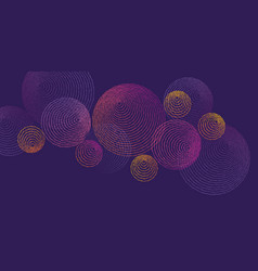 Abstract dots circles luxury pattern vector
