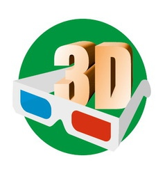 anaglyph vector image