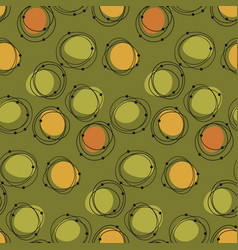 Atomic age 50s vibes concept seamless pattern vector