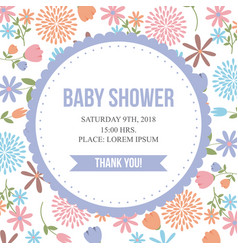 baby shower related icons image vector image