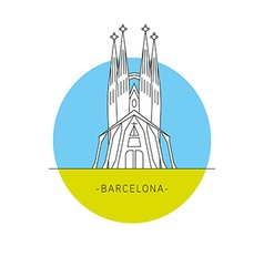 Barcelona Spain Sagrada Familia Icon landmark vector