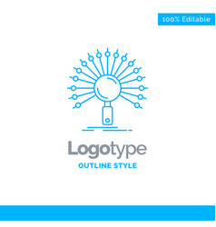 Blue logo design for data information vector