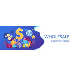 Business-to-business sales concept banner header vector