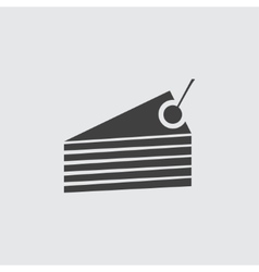 Cake piece icon vector image