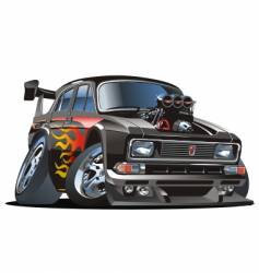 cartoon hot-rod vector image