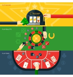 Casino Banner Set vector
