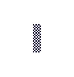 Checker pattern logo letter i vector
