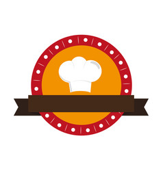 chef hat silhouette icon vector image