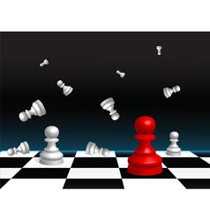 Chess board and pieces vector