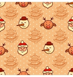 christmas pattern 3 vector image