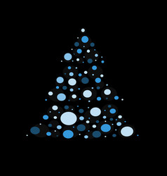 christmas tree with star vector image