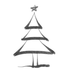 ChristmasTree bw vector
