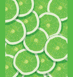 citrus texture background with slices of lemon vector image