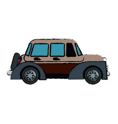 Classic car vehicle transport motor vintage style vector