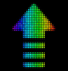 colored pixel arrow pointer icon vector image