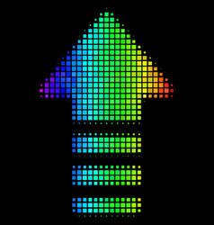 Colored pixel arrow pointer icon vector