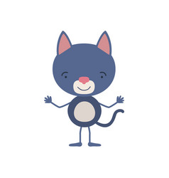 colorful caricature of cute cat tranquility vector image