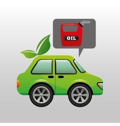 Eco car oil canister icon vector